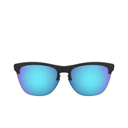 Oakley® Round Sunglasses: Frogskins Lite OO9374 color Matte Black 937402.