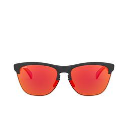 Oakley® Round Sunglasses: Frogskins Lite OO9374 color Matte Black Ink 937427.