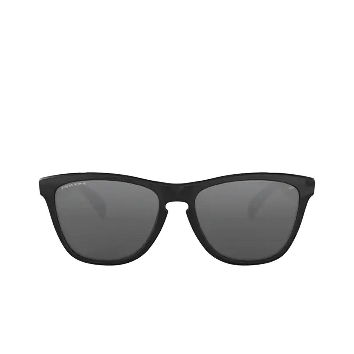 Oakley® Square Sunglasses: Frogskins OO9013 color Polished Black 9013C4 - front view.