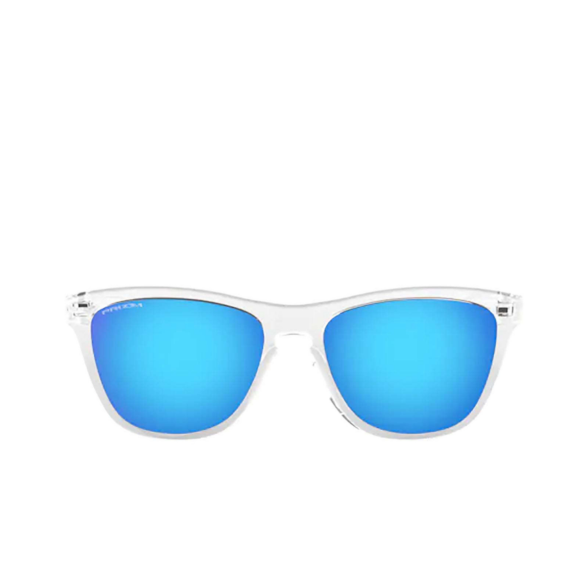 Oakley® Square Sunglasses: Frogskins OO9013 color Crystal Clear 9013D0 - front view.