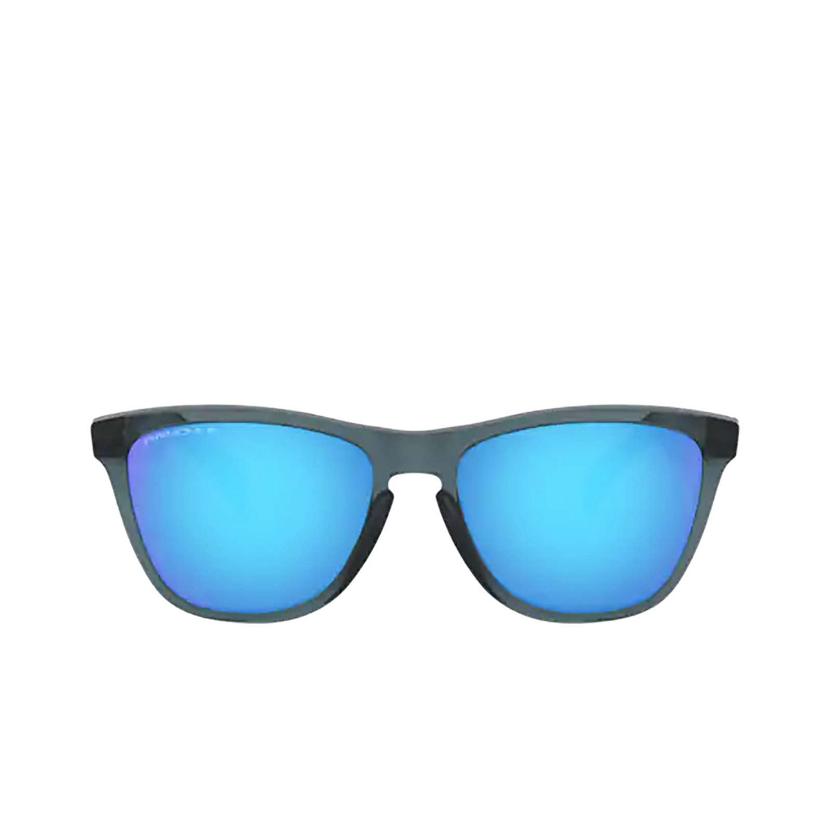 Oakley® Square Sunglasses: Frogskins OO9013 color Crystal Black 9013F6 - front view.