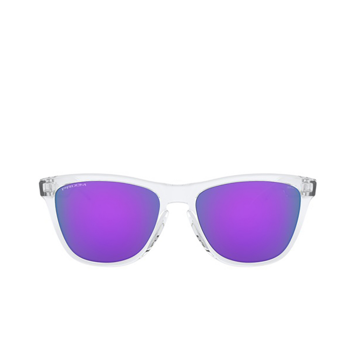 Oakley® Square Sunglasses: Frogskins OO9013 color Polished Clear 9013H7 - front view.