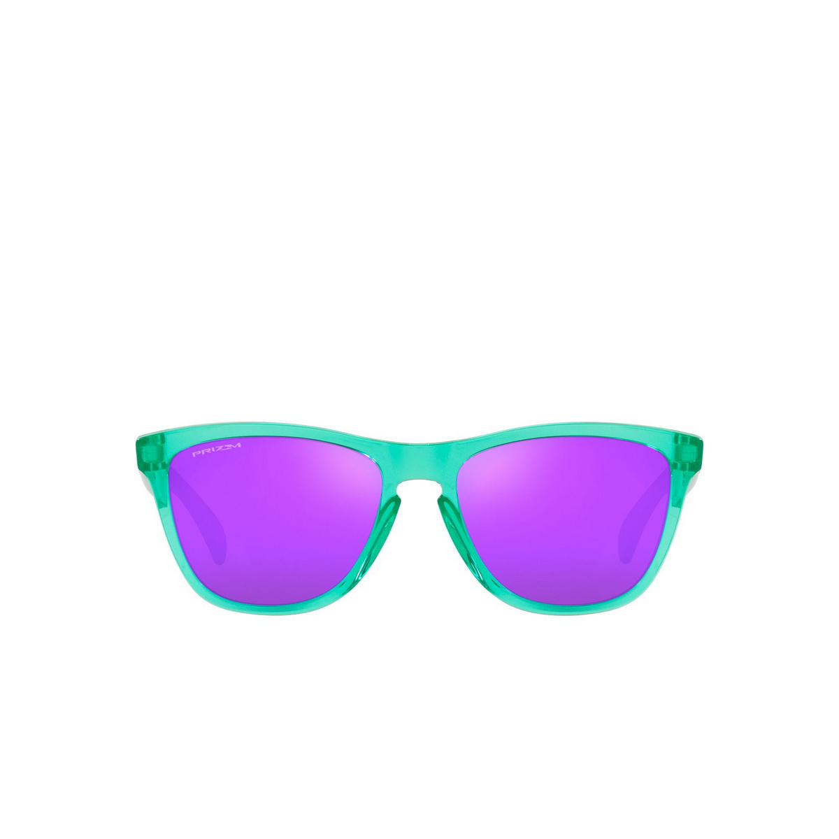 Oakley® Square Sunglasses: Frogskins OO9013 color Translucent Celeste 9013J8 - front view.