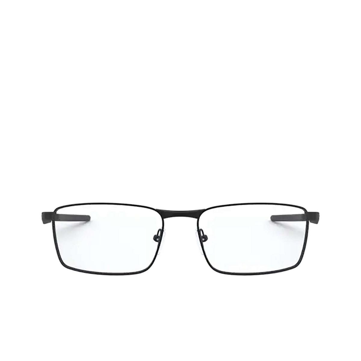 Oakley® Rectangle Eyeglasses: Fuller OX3227 color Satin Black 322701 - front view.