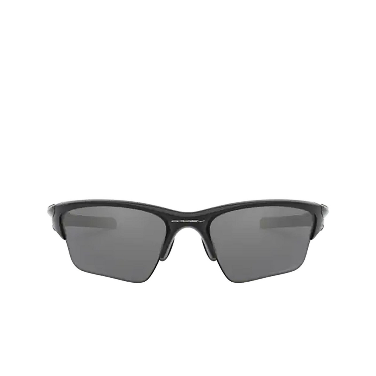 Oakley® Irregular Sunglasses: Half Jacket 2.0 Xl OO9154 color Polished Black 915405 - front view.