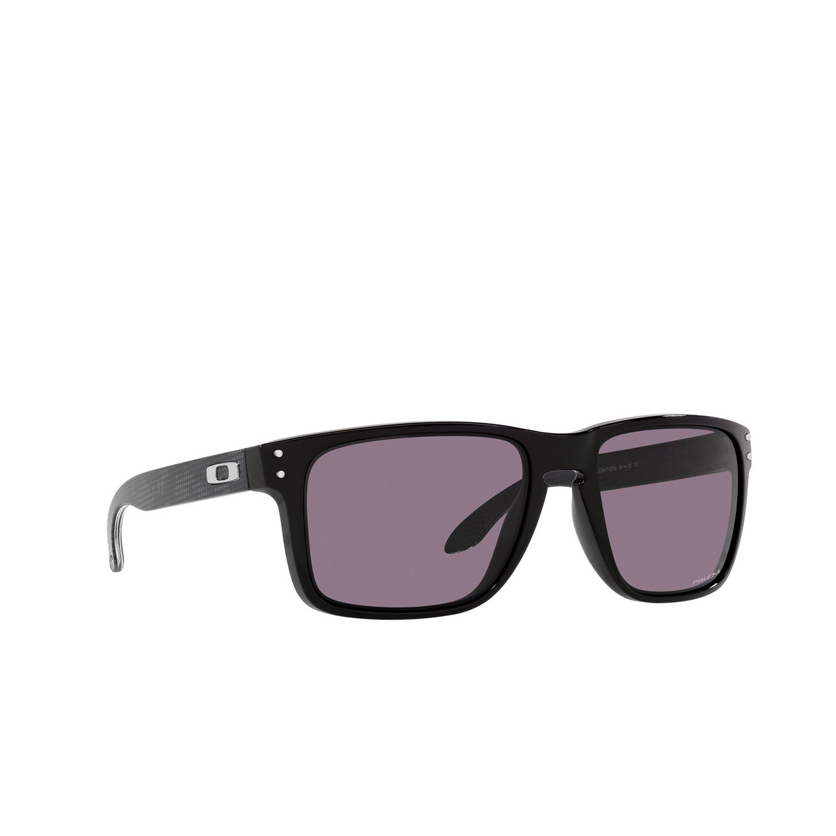 Oakley® Square Sunglasses: Holbrook Xl OO9417 color Polished Black 941727 - three-quarters view.