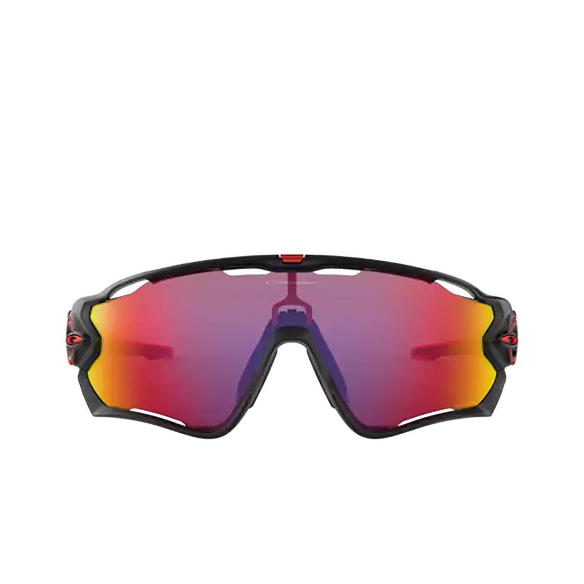 Oakley® Sport Sunglasses: Jawbreaker OO9290 color Matte Black 929020 - front view.