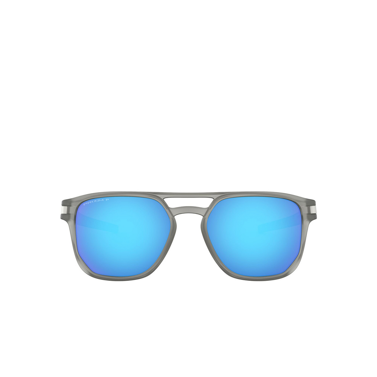 Oakley® Square Sunglasses: Latch Beta OO9436 color Matte Grey Ink 943606 - front view.