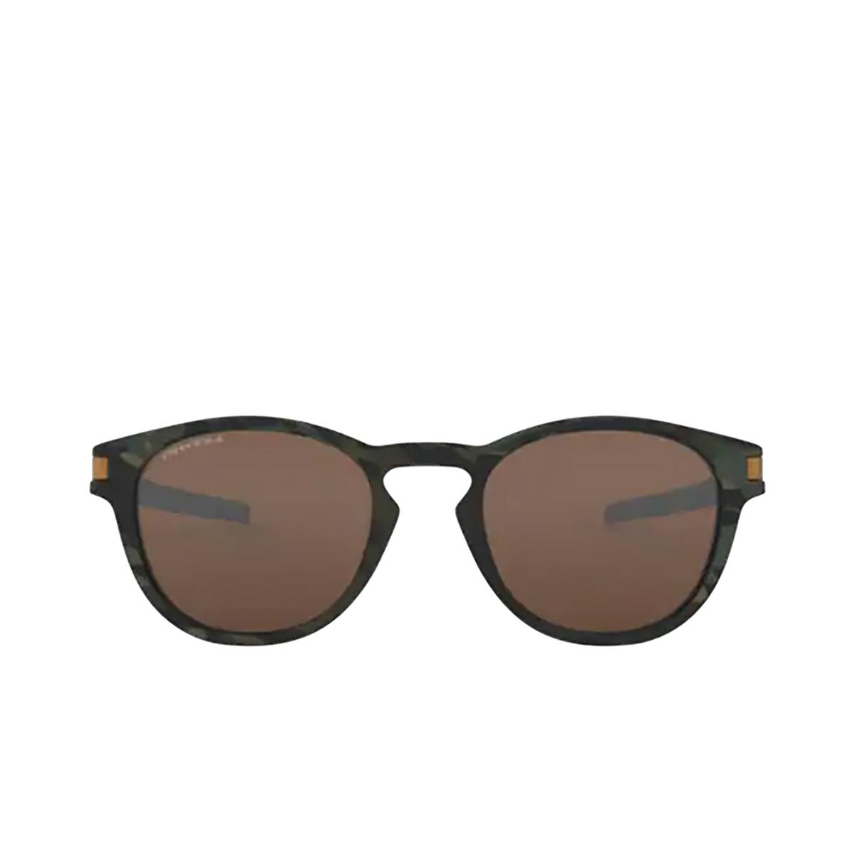 Oakley® Round Sunglasses: Latch OO9265 color Matte Olive Camo 926531 - 1/3.