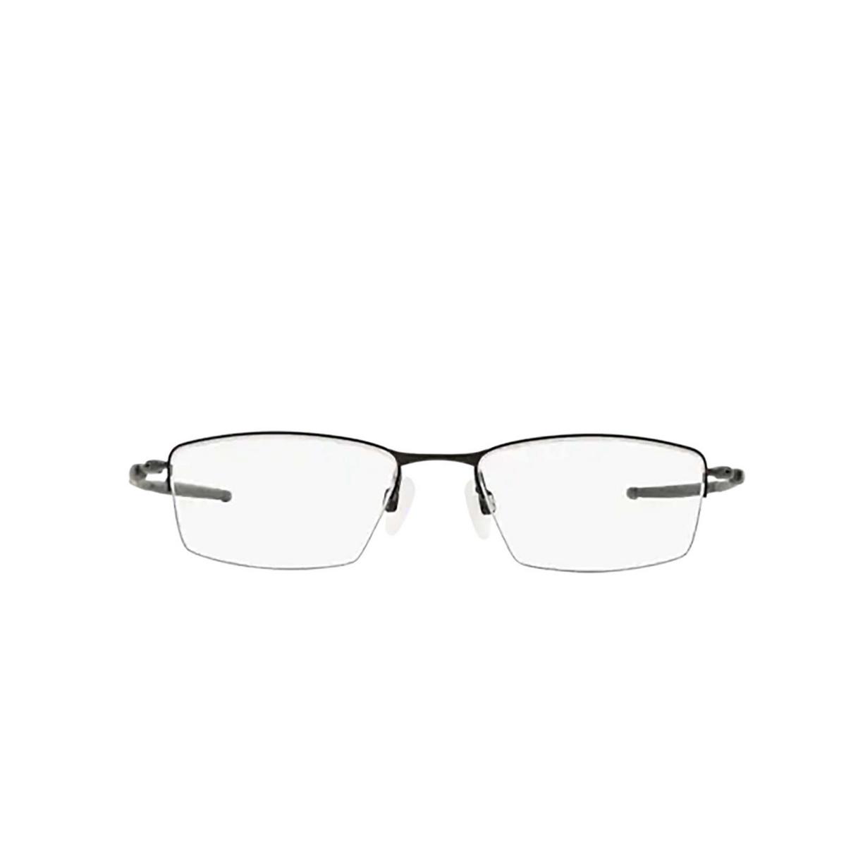 Oakley® Rectangle Eyeglasses: Lizard OX5113 color Satin Black 511301 - front view.