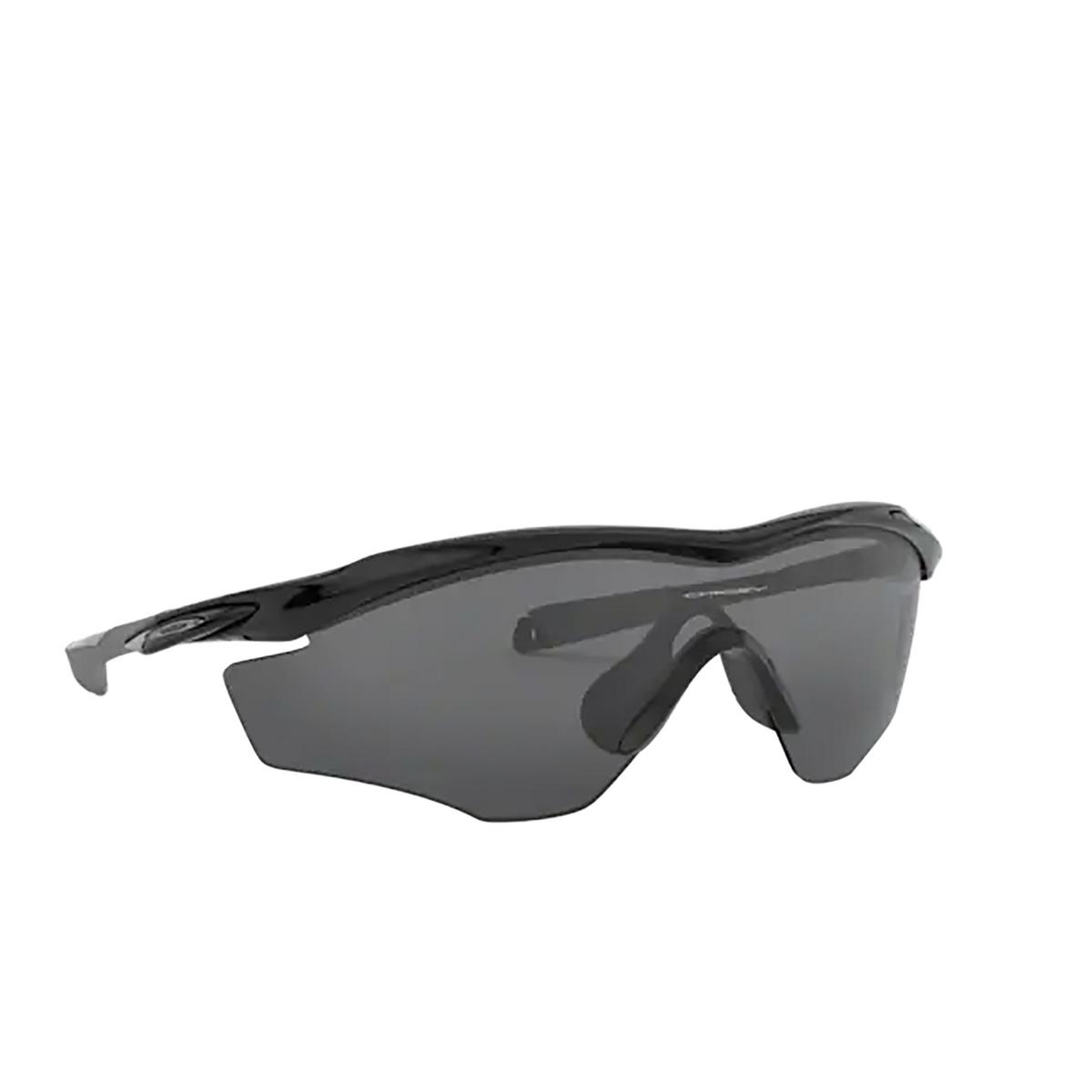 Oakley® Irregular Sunglasses: M2 Frame Xl OO9343 color Polished Black 934301 - three-quarters view.