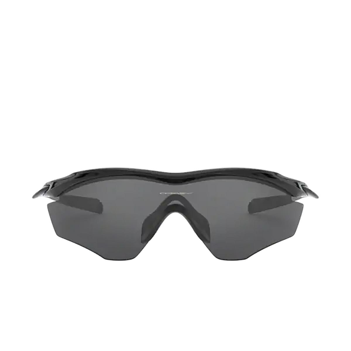 Oakley® Irregular Sunglasses: M2 Frame Xl OO9343 color Polished Black 934301 - front view.