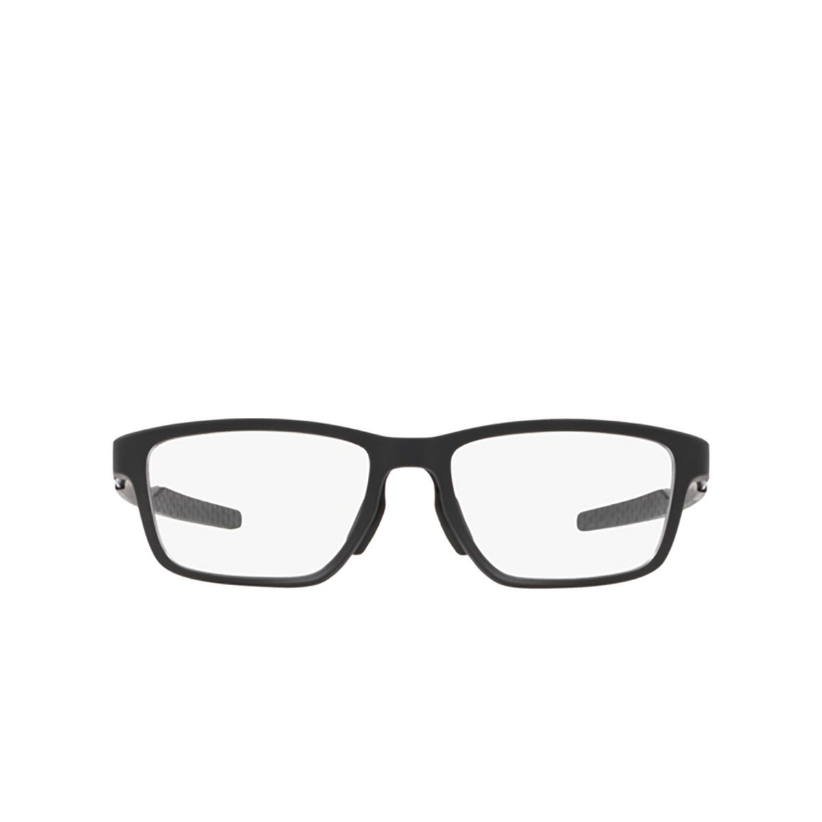 Oakley® Rectangle Eyeglasses: Metalink OX8153 color Satin Black 815301 - front view.