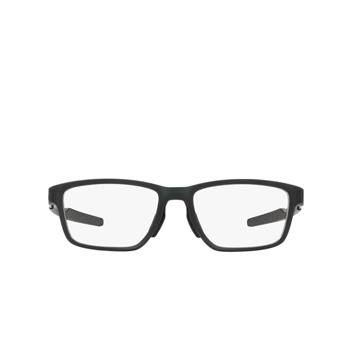 Oakley® Rectangle Eyeglasses: Metalink OX8153 color Matte Olive 815303 - front view.