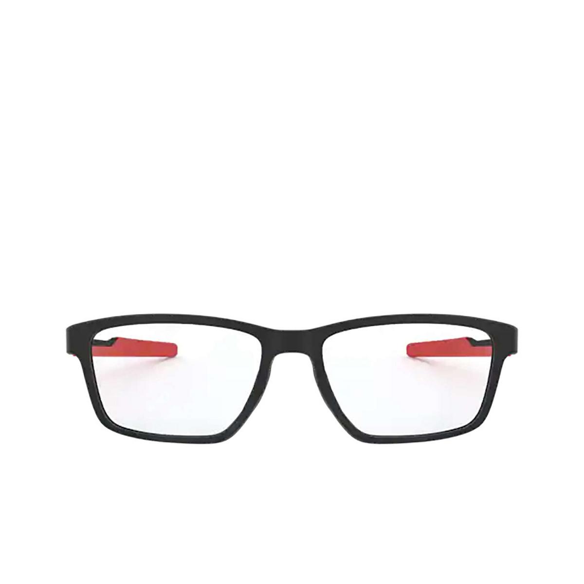 Oakley® Rectangle Eyeglasses: Metalink OX8153 color Satin Black 815306 - front view.