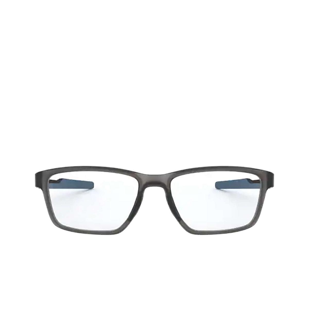 Oakley® Rectangle Eyeglasses: Metalink OX8153 color Satin Grey Smoke 815307 - front view.