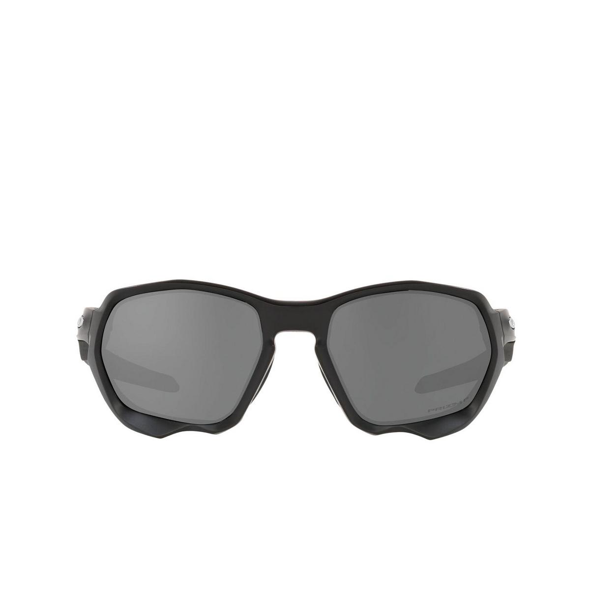 Oakley® Sport Sunglasses: Plazma OO9019 color Matte Black 901906 - front view.
