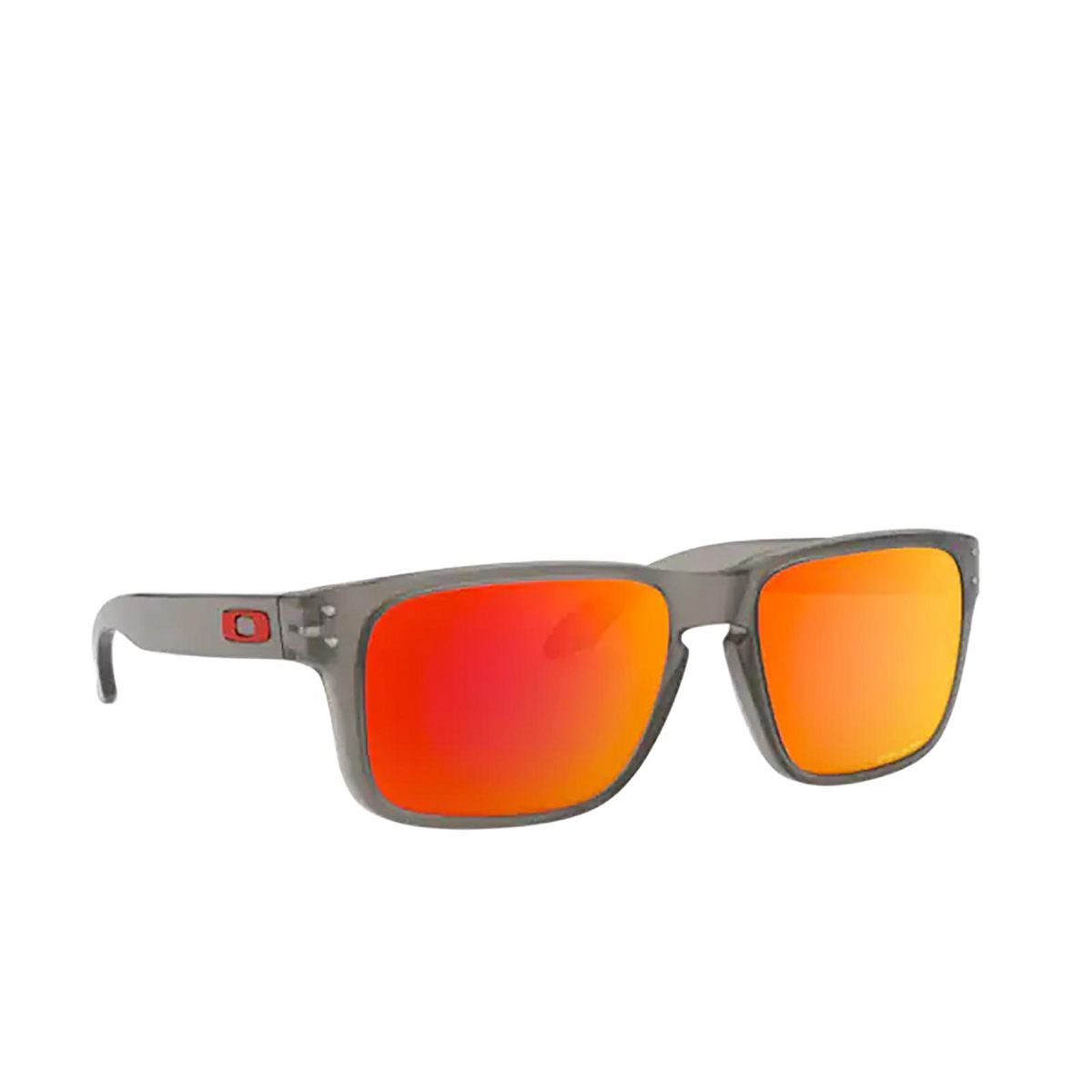 Oakley® Square Sunglasses: Holbrook Xs OJ9007 color Matte Grey Ink 900703 - three-quarters view.