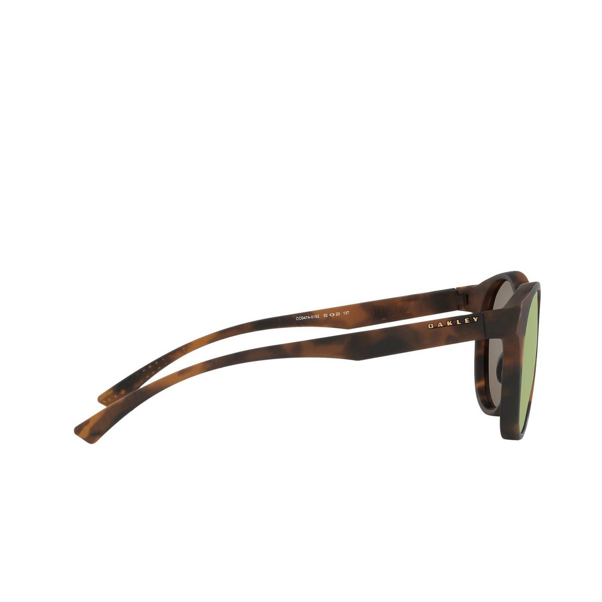 Oakley® Round Sunglasses: Spindrift OO9474 color Matte Brown Tortoise 947401 - 3/3.