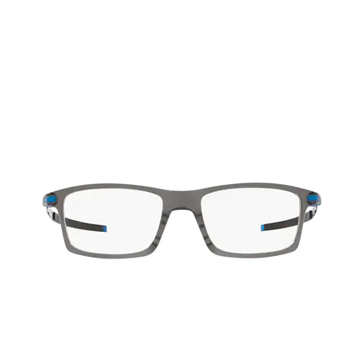 Oakley® Rectangle Eyeglasses: Pitchman OX8050 color Polished Grey Smoke 805012 - front view.