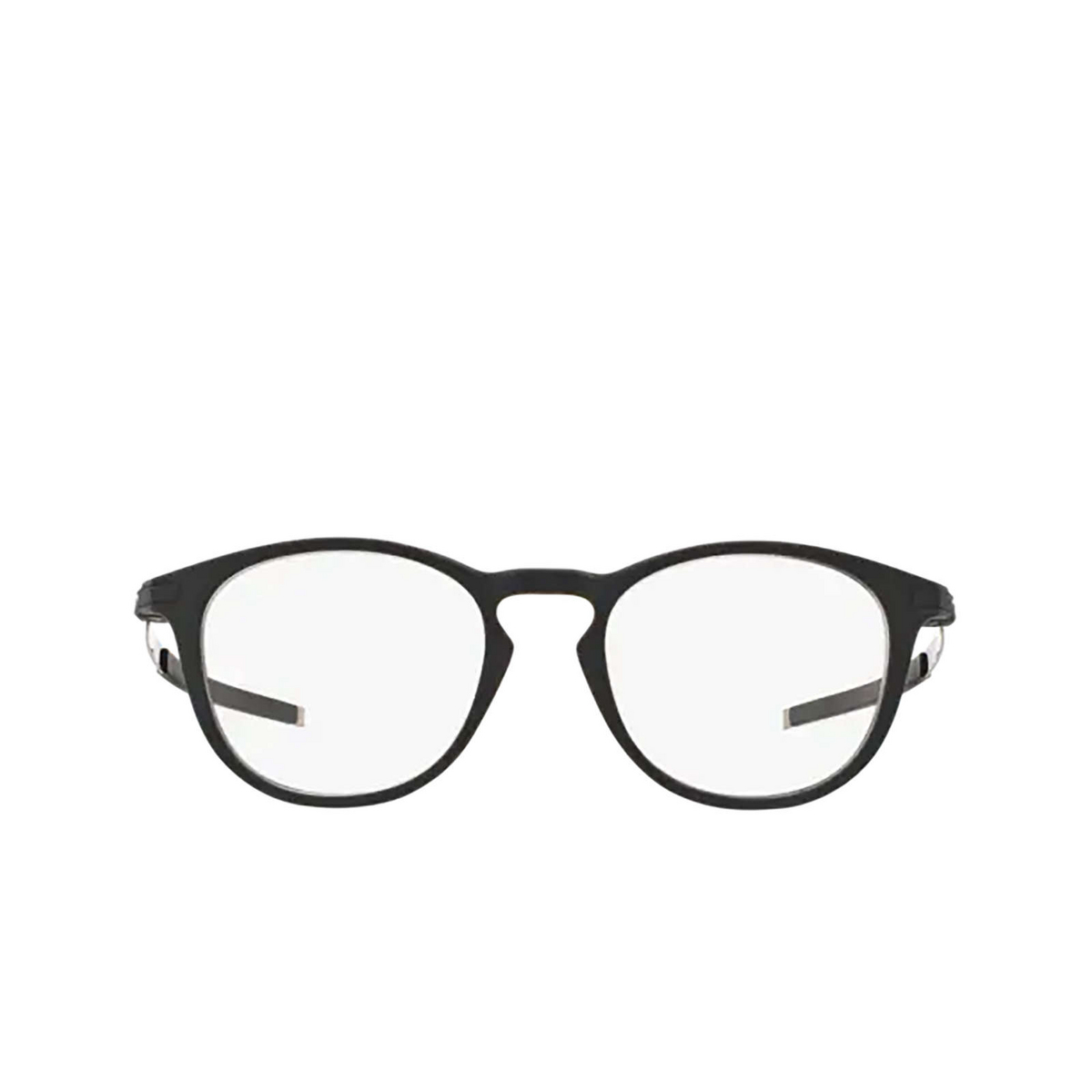 Oakley® Round Eyeglasses: Pitchman R OX8105 color Satin Black 810501 - front view.