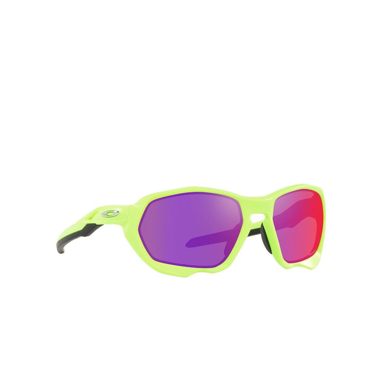 Oakley® Sport Sunglasses: Plazma OO9019 color Matte Retina Burn 901904 - three-quarters view.