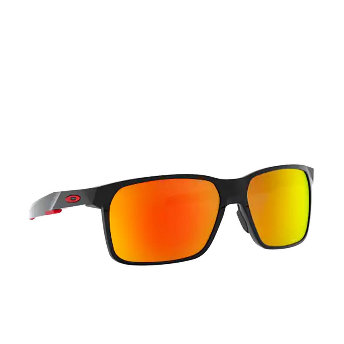 Oakley® Rectangle Sunglasses: Portal X OO9460 color Polished Black 946005.