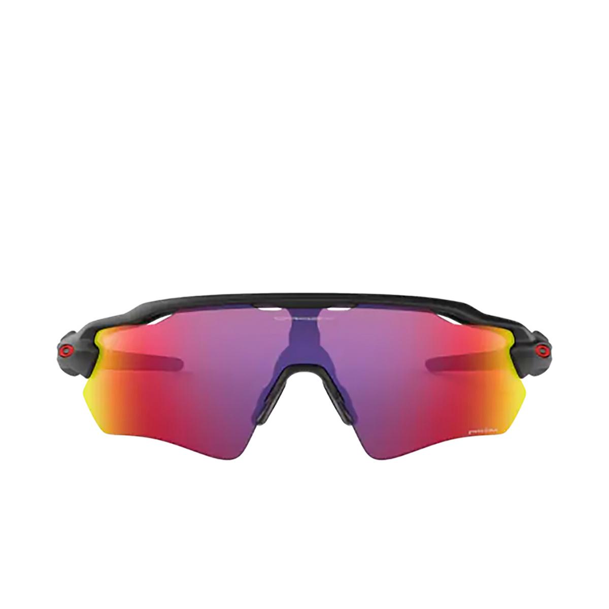 Oakley® Sport Sunglasses: Radar Ev Path OO9208 color Matte Black 920846 - front view.