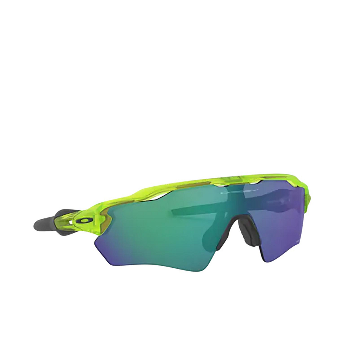 Oakley® Rectangle Sunglasses: Radar Ev Xs Path OJ9001 color Matte Uranium 900117 - three-quarters view.