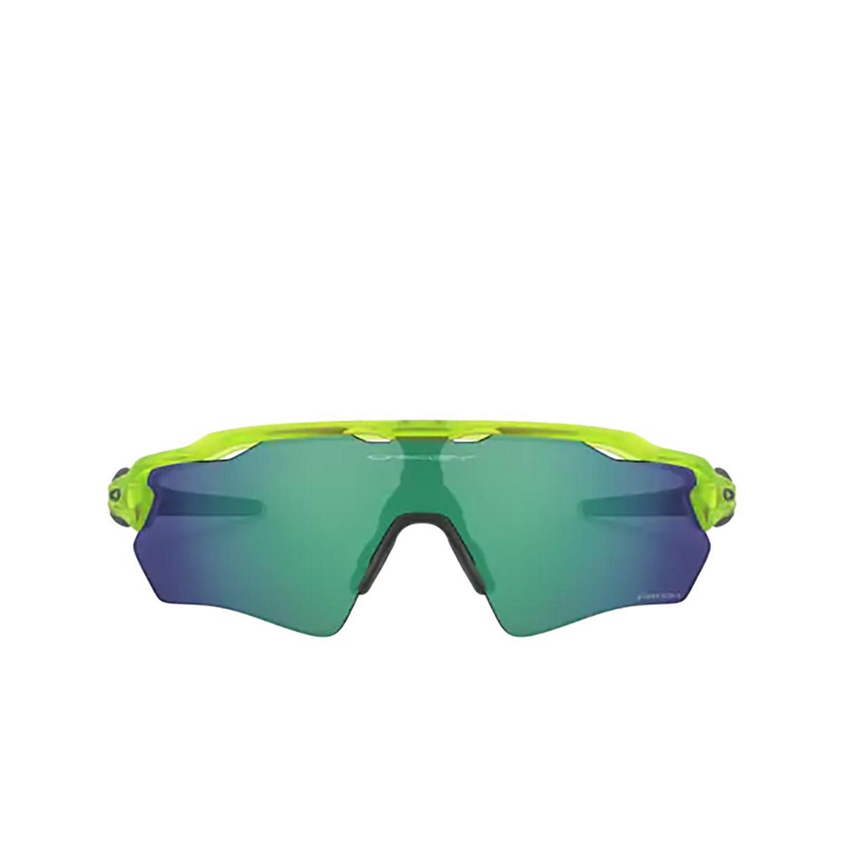 Oakley® Rectangle Sunglasses: Radar Ev Xs Path OJ9001 color Matte Uranium 900117 - front view.