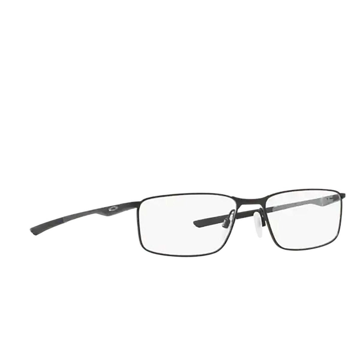 Oakley® Rectangle Eyeglasses: Socket 5.0 OX3217 color Satin Black 321701 - three-quarters view.