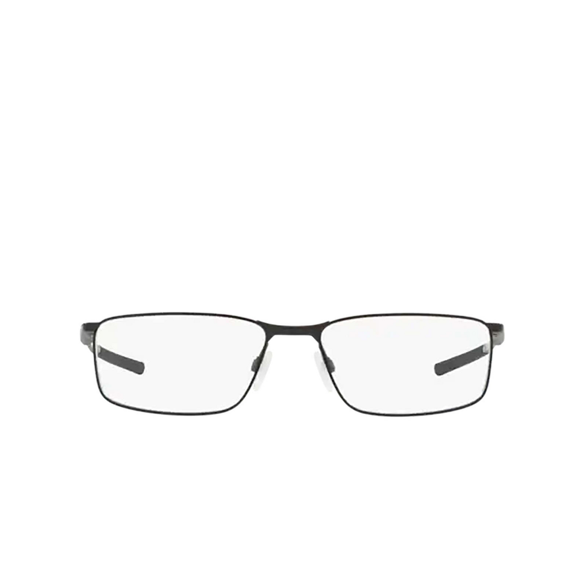 Oakley® Rectangle Eyeglasses: Socket 5.0 OX3217 color Satin Black 321701 - front view.