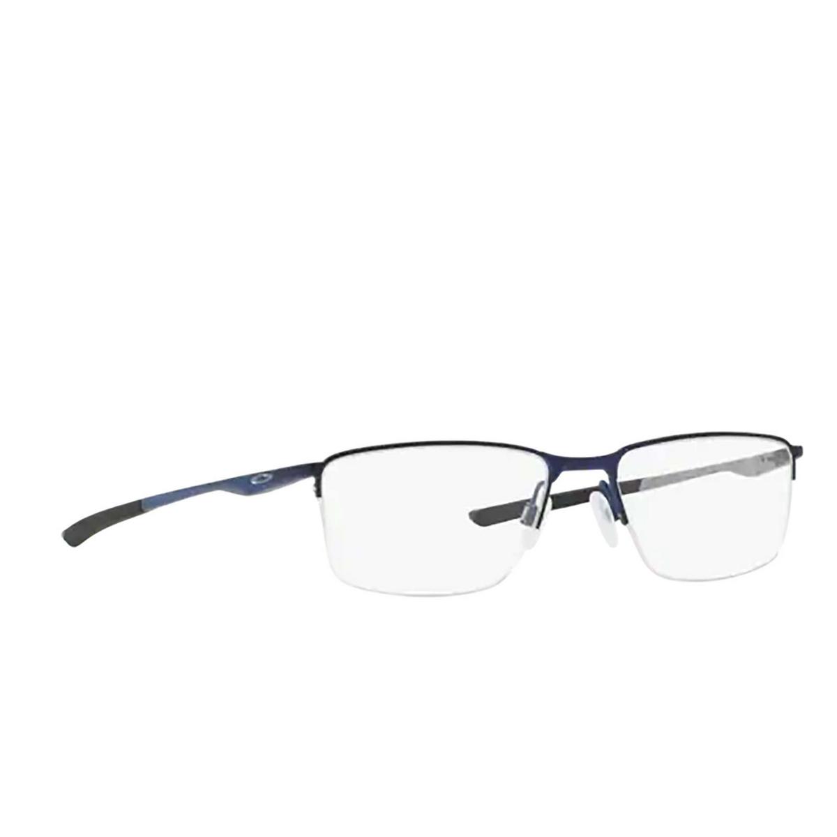 Oakley® Rectangle Eyeglasses: Socket 5.5 OX3218 color Matte Midnight 321803 - three-quarters view.