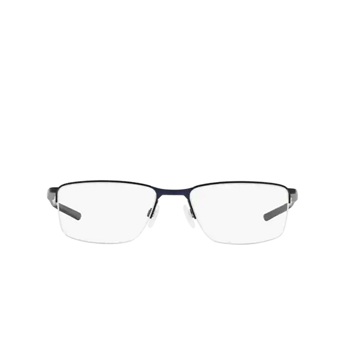 Oakley® Rectangle Eyeglasses: Socket 5.5 OX3218 color Matte Midnight 321803 - front view.