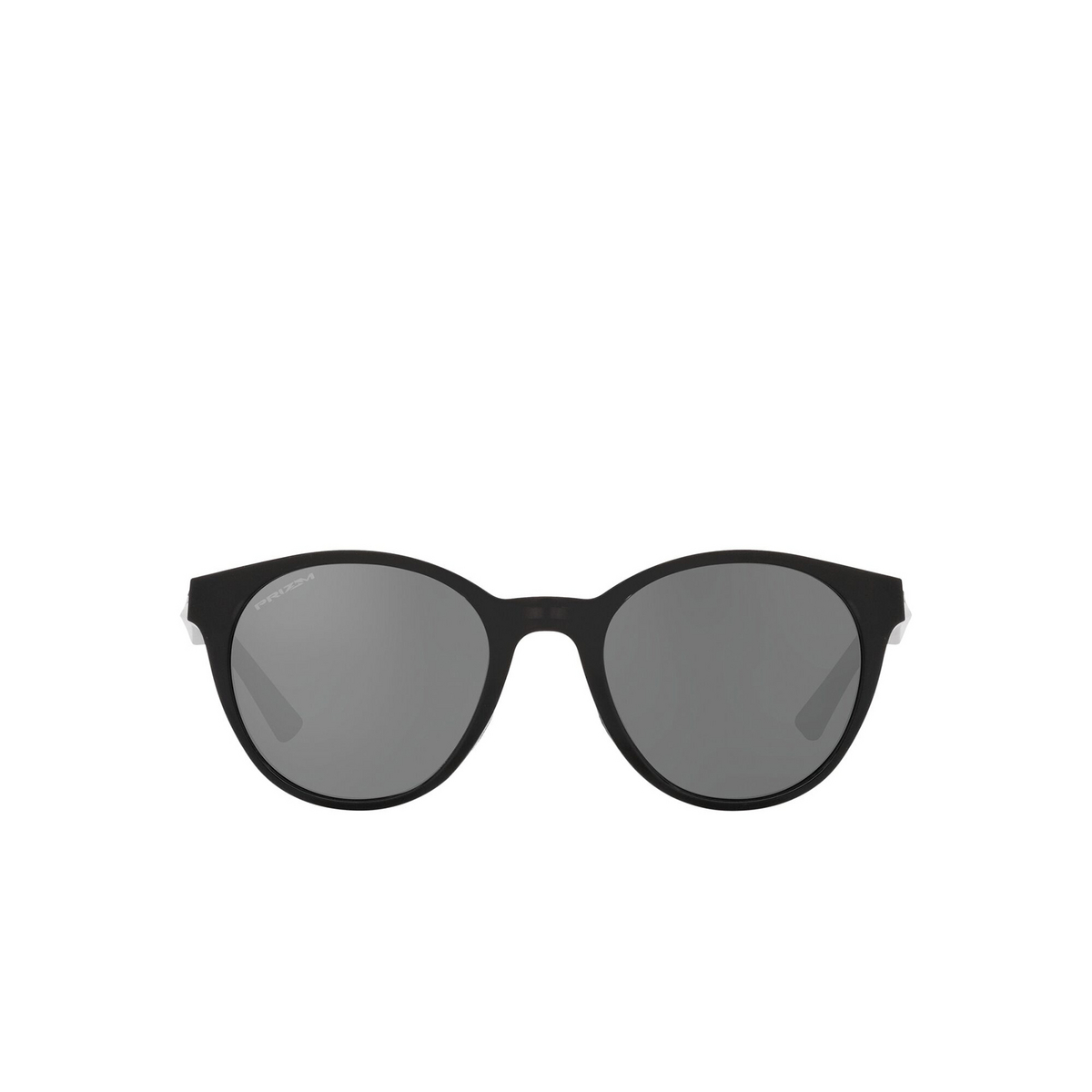 Oakley® Round Sunglasses: Spindrift OO9474 color Black Ink 947405 - front view.