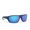 Oakley® Rectangle Sunglasses: Split Shot OO9416 color Matte Trans Blue 941604 - product thumbnail 2/3.