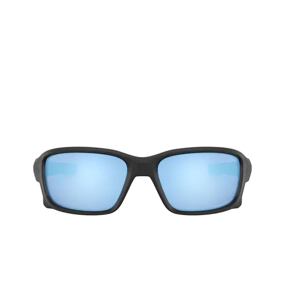 Oakley® Rectangle Sunglasses: Straightlink OO9331 color Matte Black 933105 - front view.