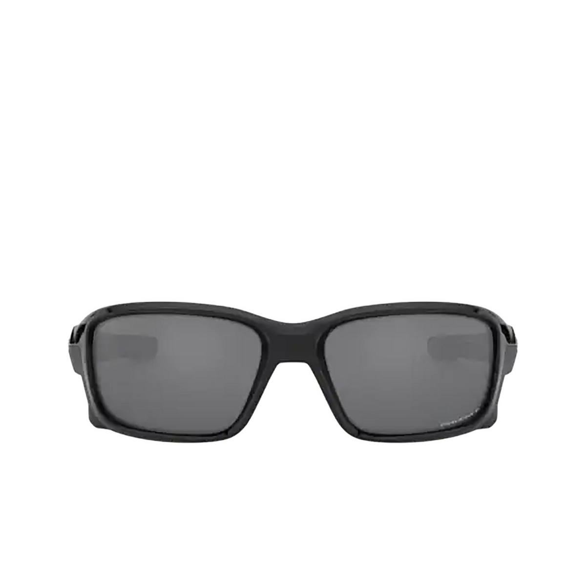 Oakley® Rectangle Sunglasses: Straightlink OO9331 color Polished Black 933116 - front view.