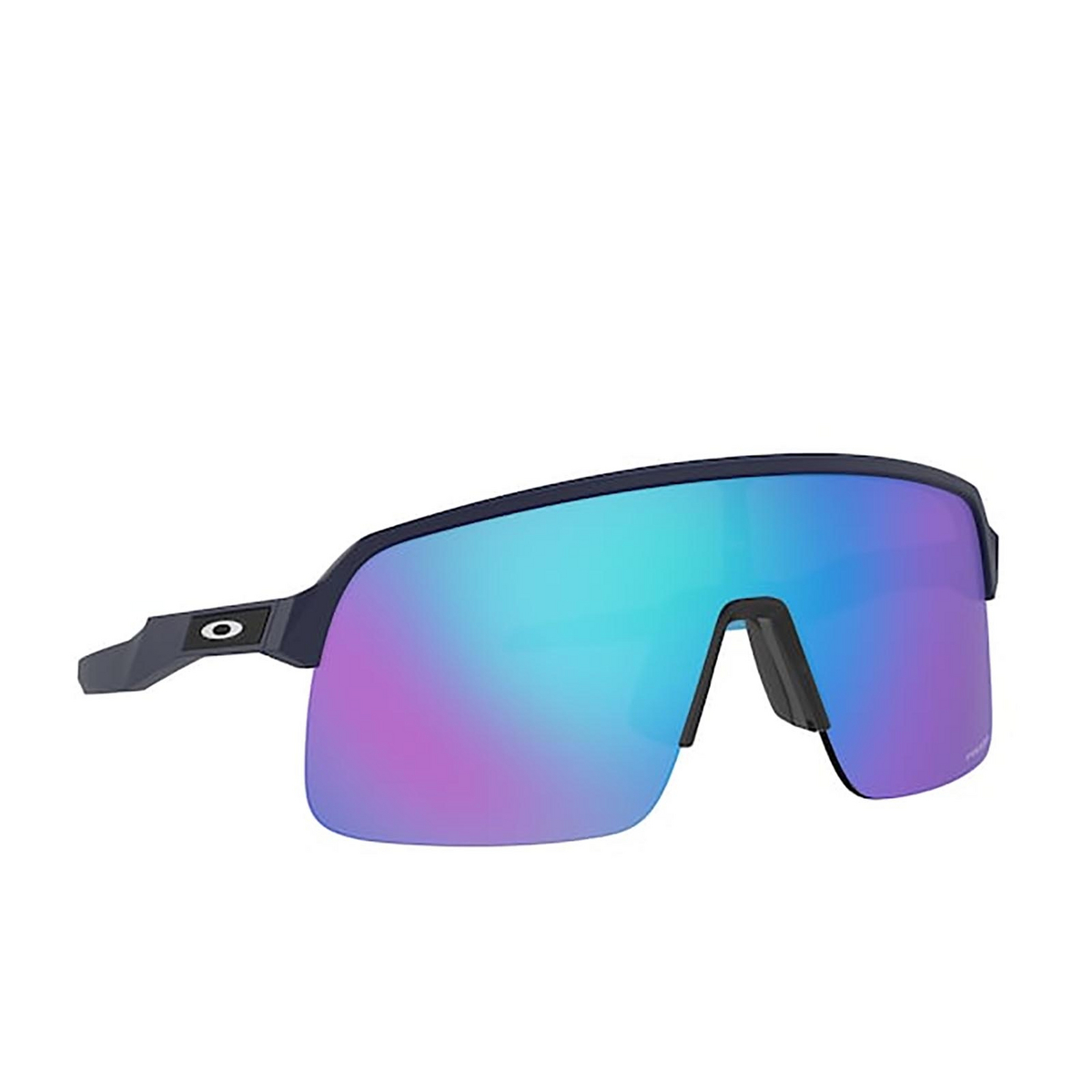 Oakley® Mask Sunglasses: Sutro Lite OO9463 color Matte Navy 946306 - three-quarters view.