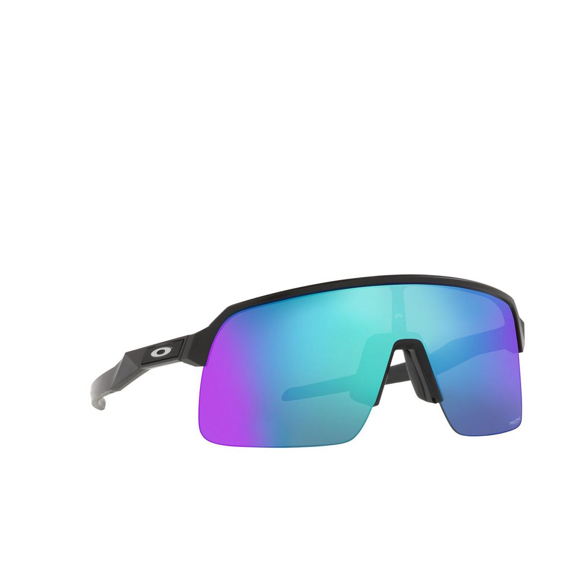 Oakley® Rectangle Sunglasses: Sutro Lite OO9463 color Matte Black 946315 - three-quarters view.
