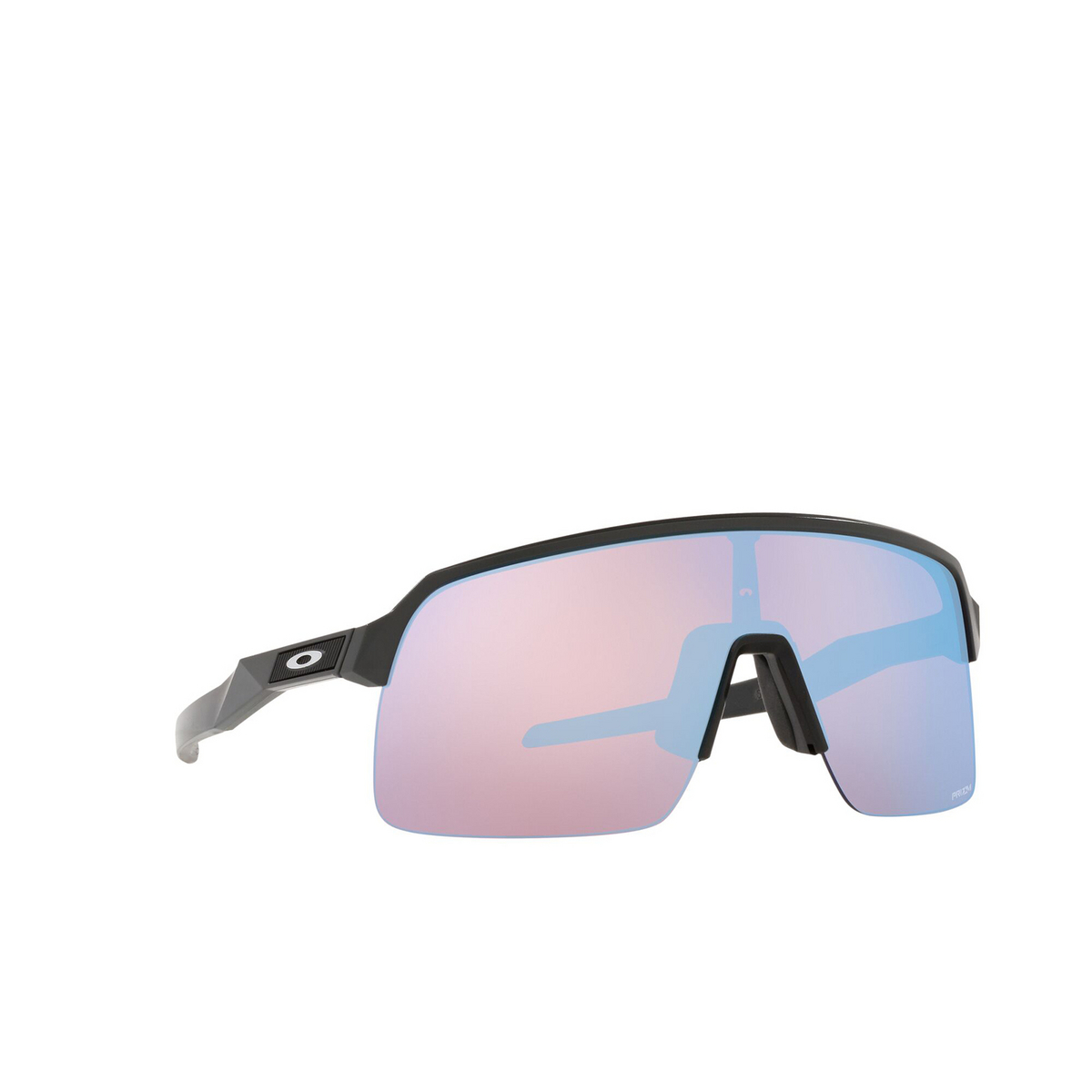Oakley® Rectangle Sunglasses: Sutro Lite OO9463 color Matte Carbon 946317 - three-quarters view.