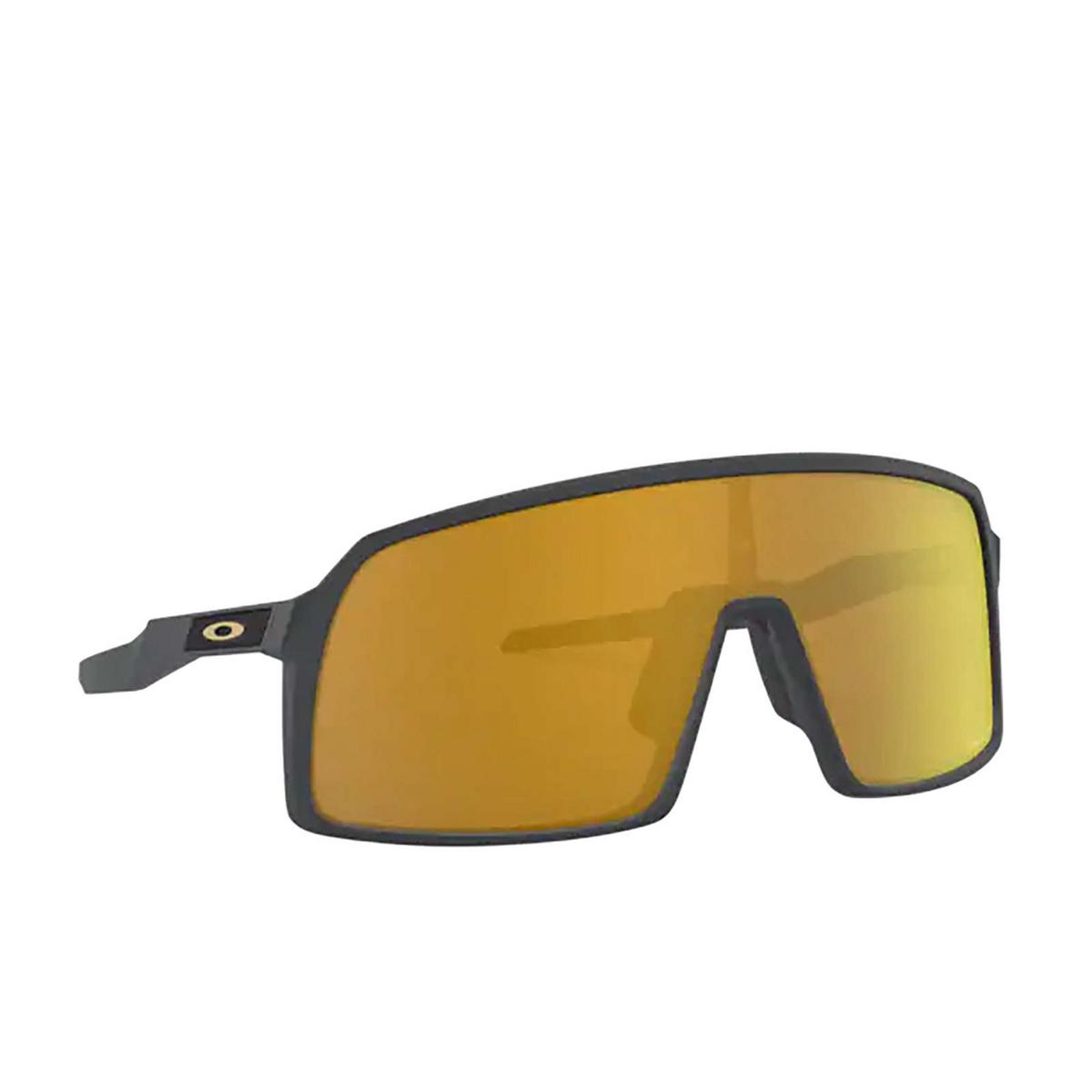 Oakley® Sport Sunglasses: Sutro OO9406 color Matte Carbon 940605 - three-quarters view.