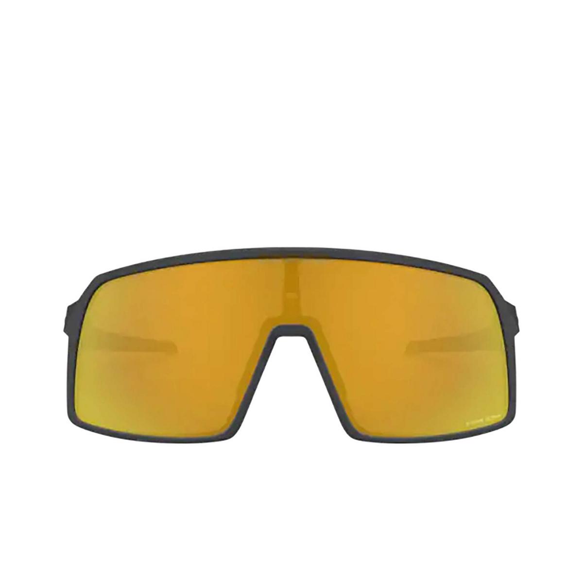 Oakley® Sport Sunglasses: Sutro OO9406 color Matte Carbon 940605 - front view.