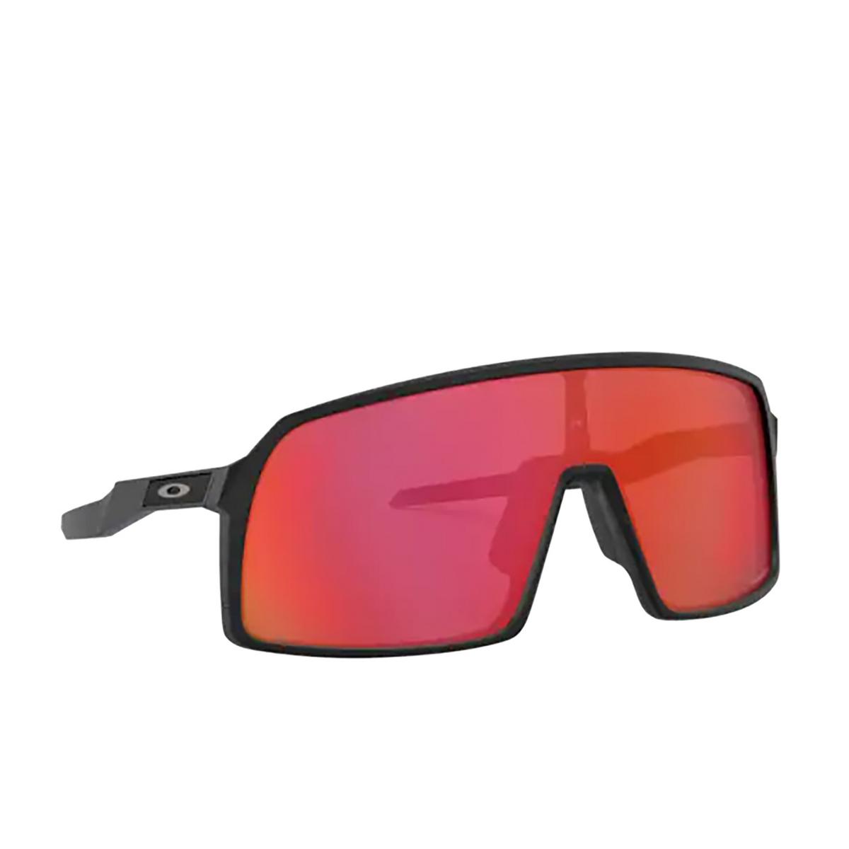 Oakley® Sport Sunglasses: Sutro OO9406 color Matte Black 940611 - three-quarters view.