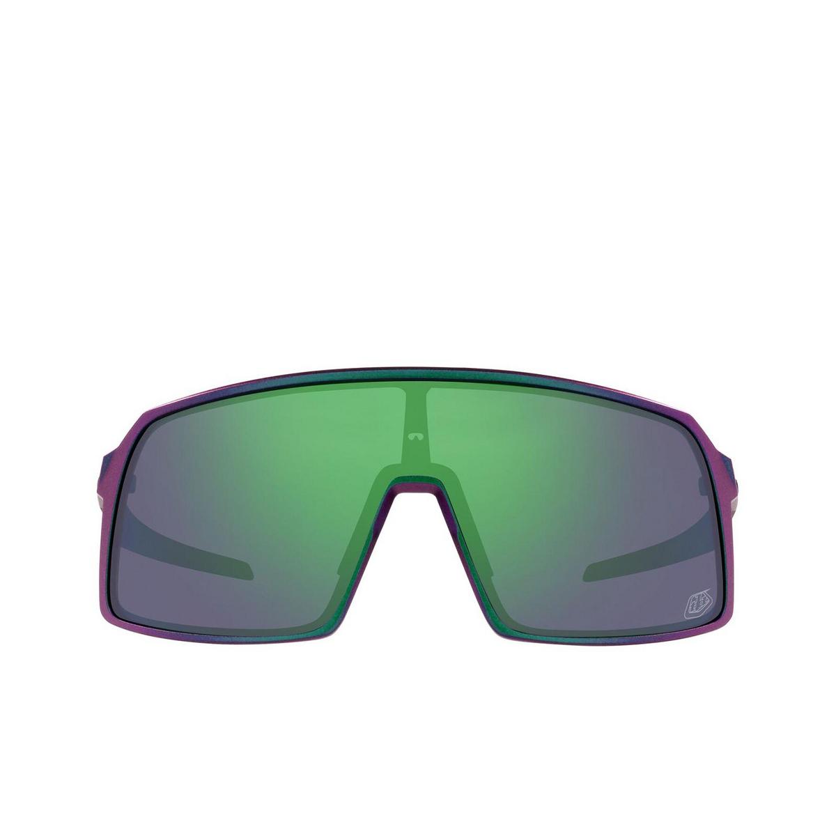 Oakley® Rectangle Sunglasses: Sutro OO9406 color Tld Matte Purple Green Shift 940647 - front view.