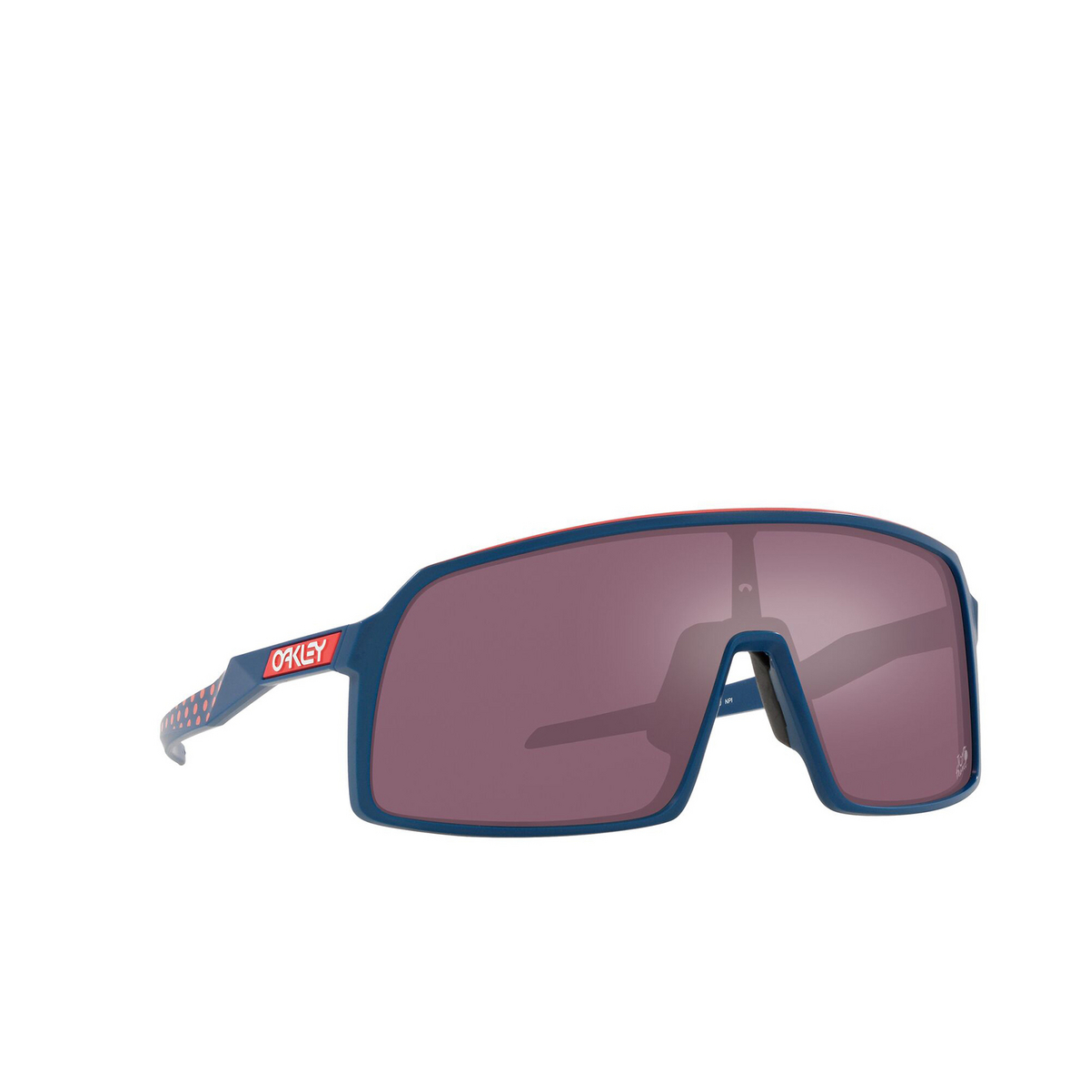 Oakley® Sport Sunglasses: Sutro OO9406 color Tdf Poseidon 940658 - three-quarters view.