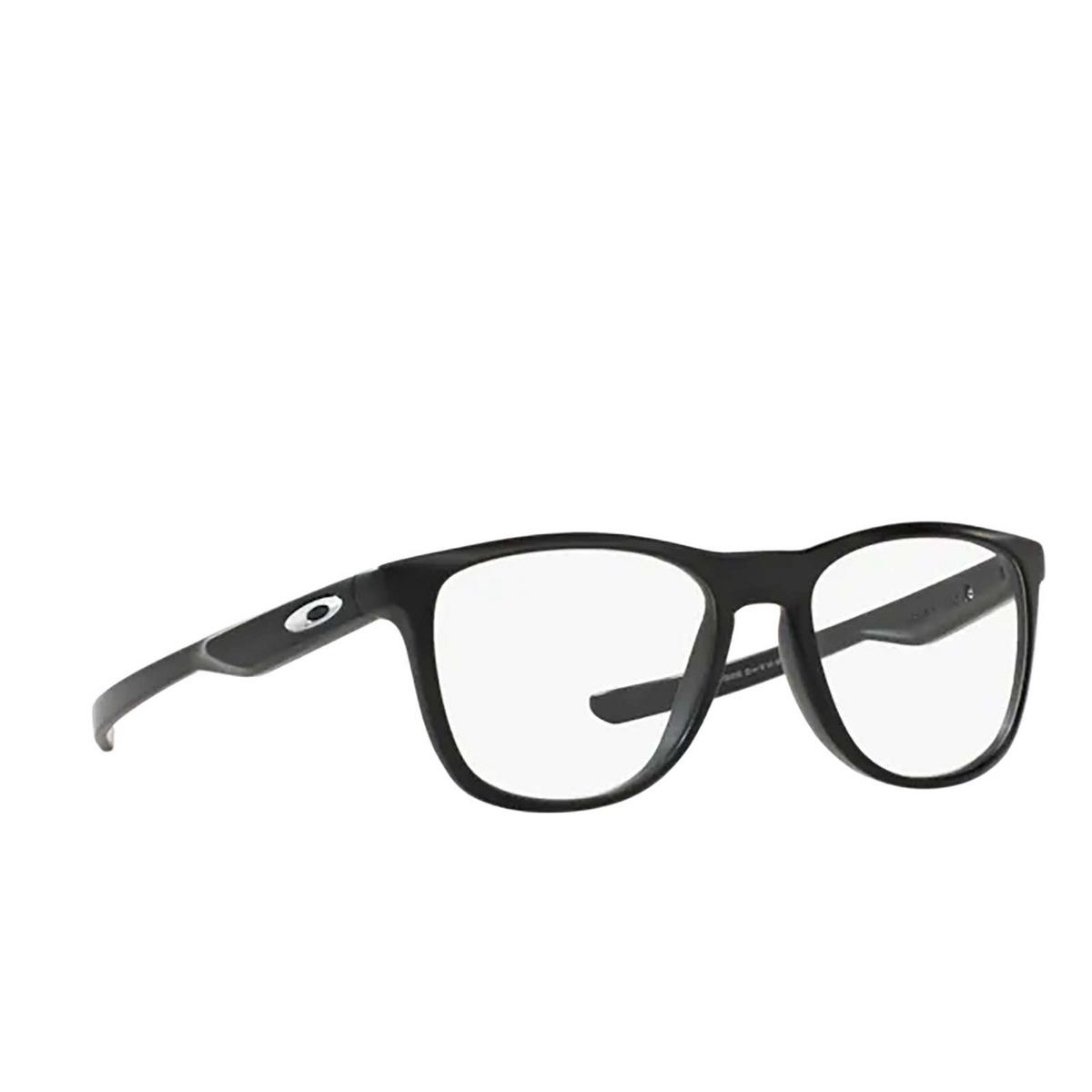 Oakley® Square Eyeglasses: Trillbe X OX8130 color Matte Black 813001 - three-quarters view.