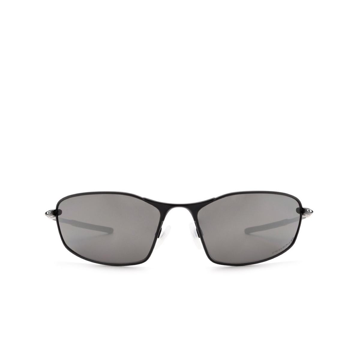 Oakley® Oval Sunglasses: Whisker OO4141 color Satin Black 414103.