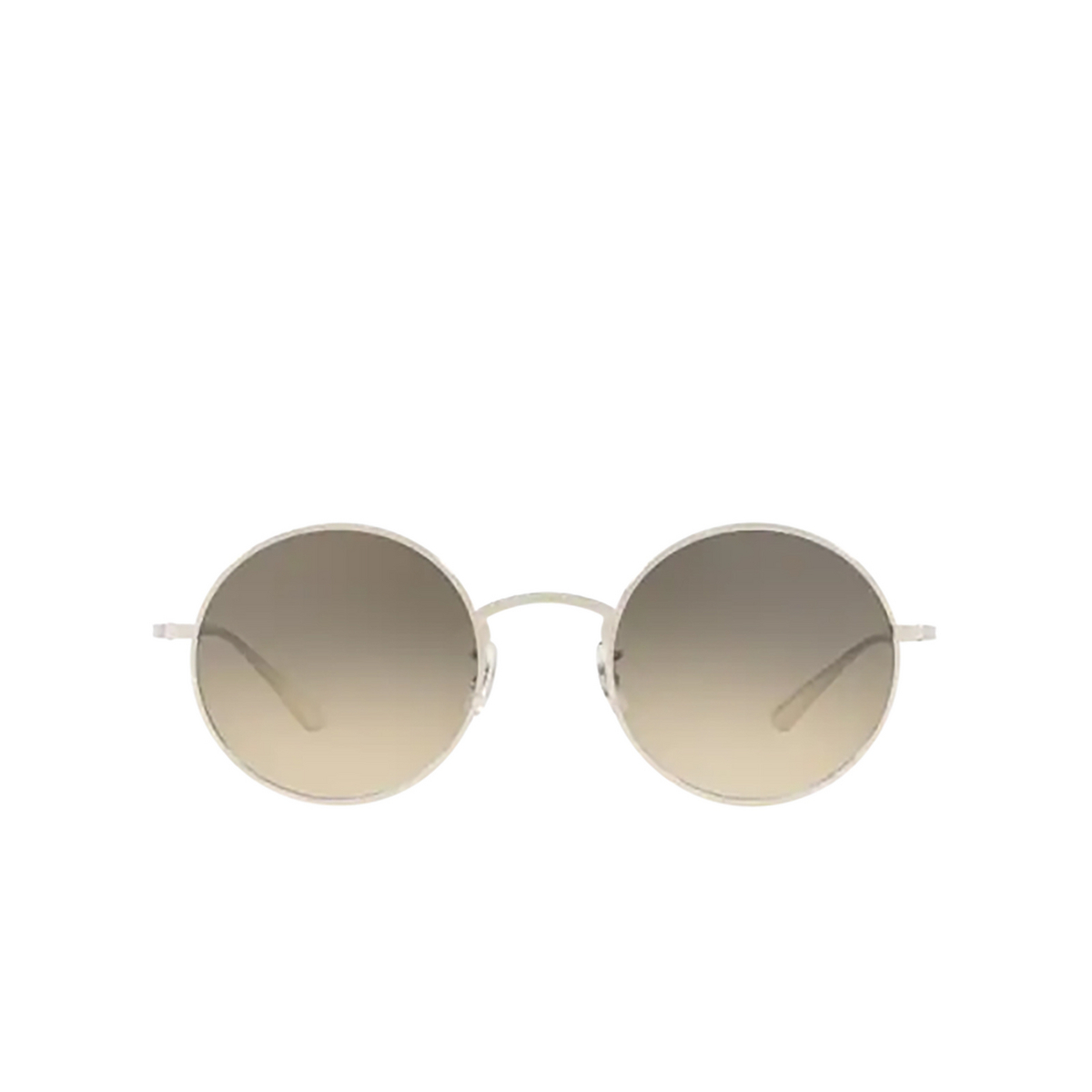 Oliver Peoples® Round Sunglasses: After Midnight OV1197ST color Silver 503632.
