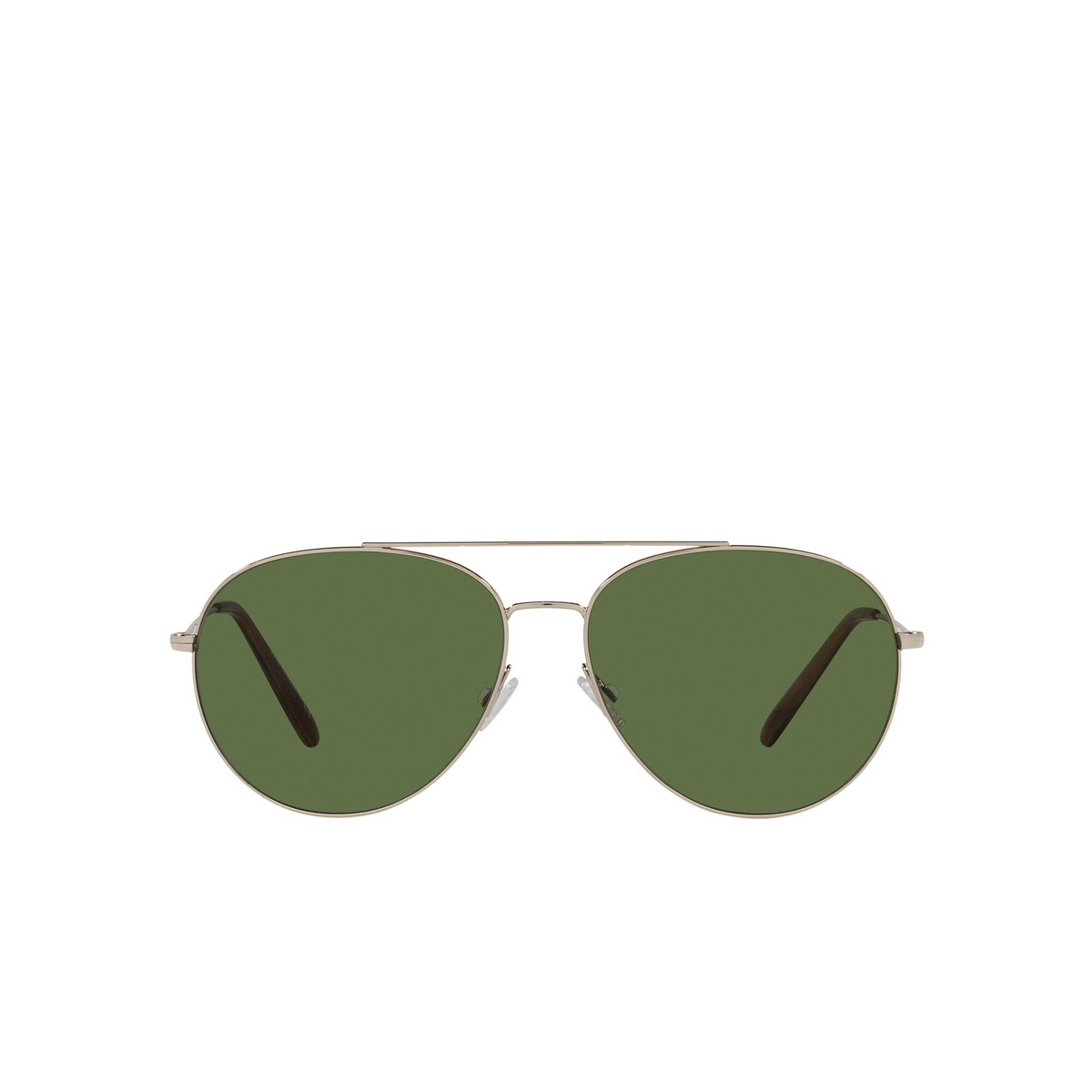 Oliver Peoples® Aviator Sunglasses: Airdale OV1286S color Soft Gold 50354E - front view.